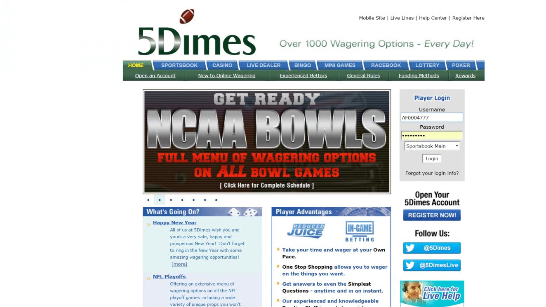 Sportsbook Review: 5Dimes vs MyBookie | BigOnSports