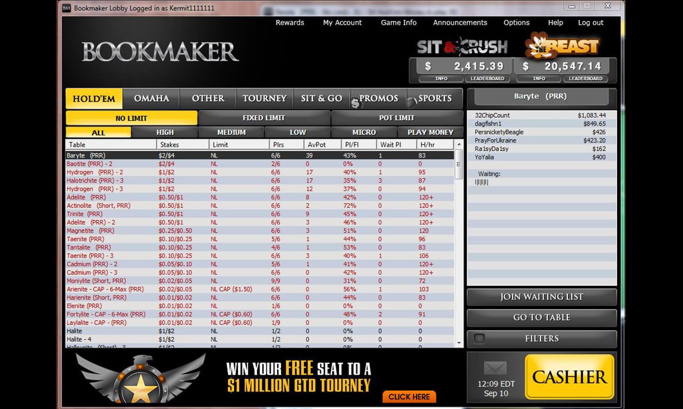Online poker bookmaker casino gambling in florida