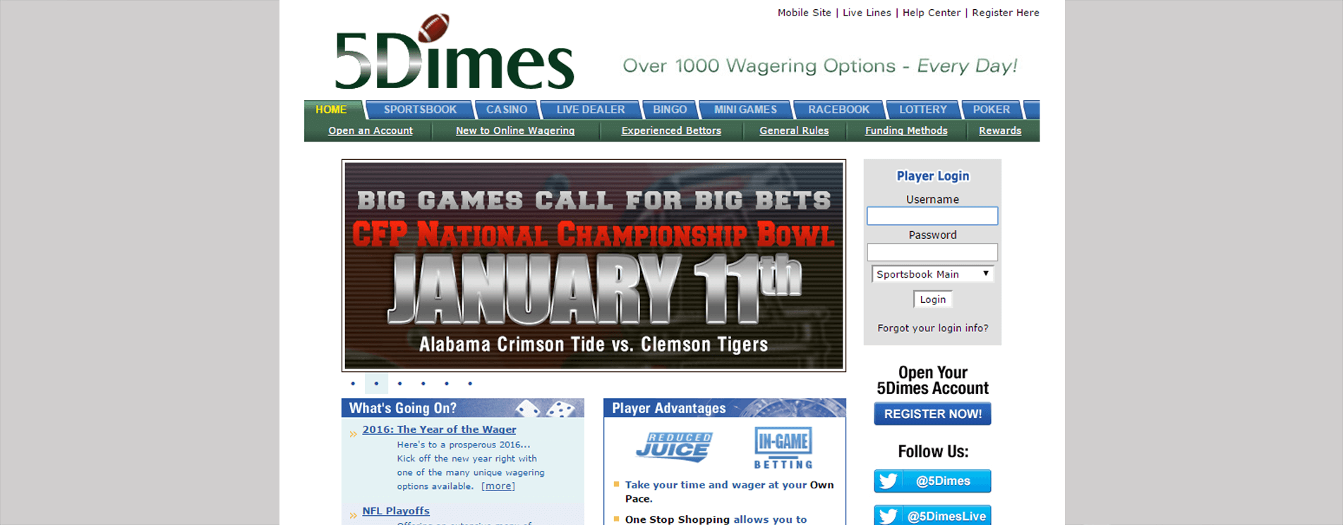 5dimes gambling site free bingo new sites no deposit