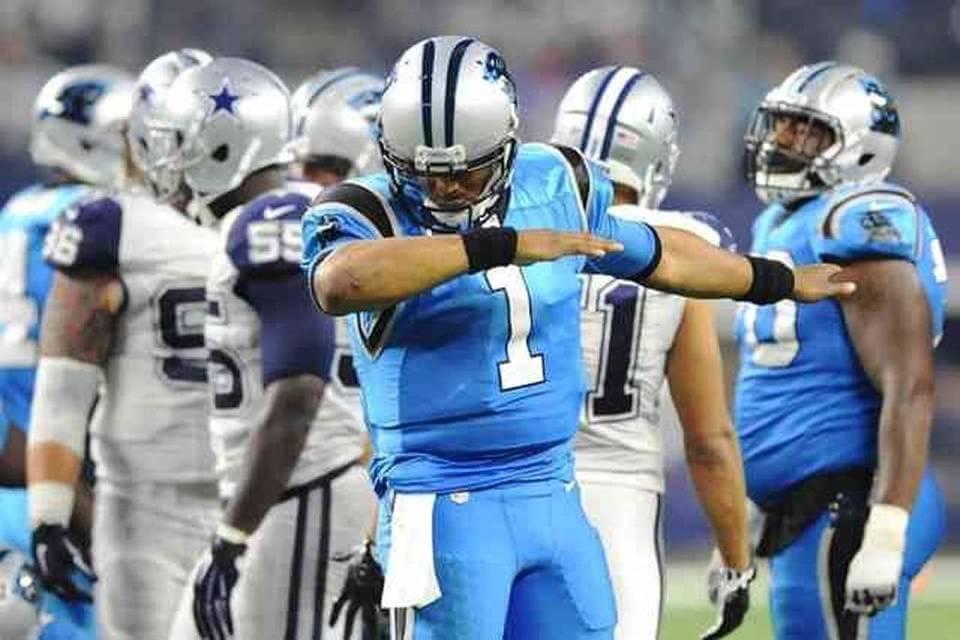 Carolina Panthers doing the Dab dance