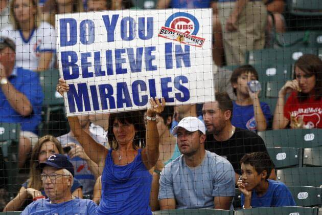 You too will believe in miracles learning that the Cubs are World Series favorites this year
