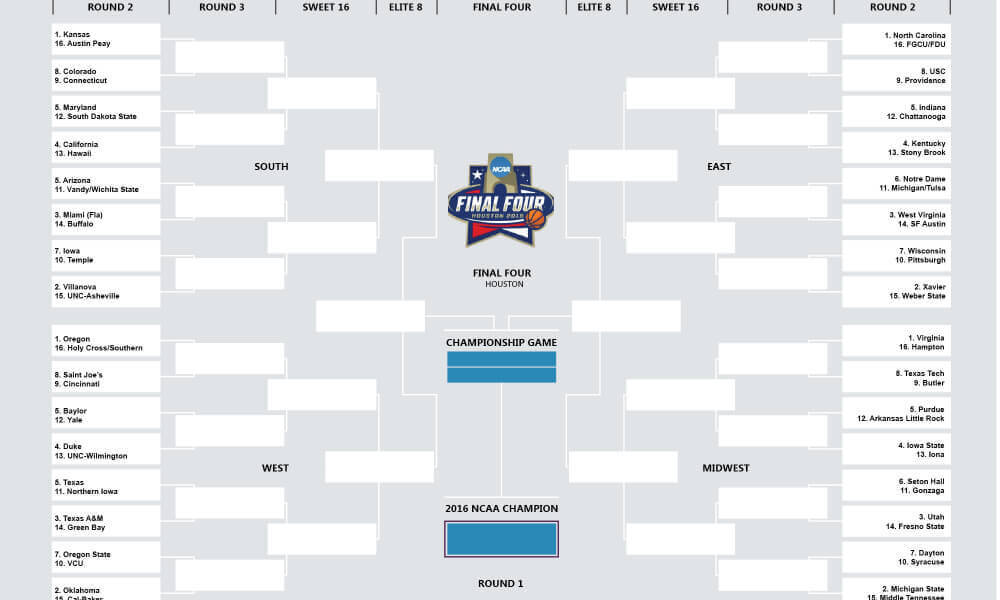 printable march madness bracket - photo #39