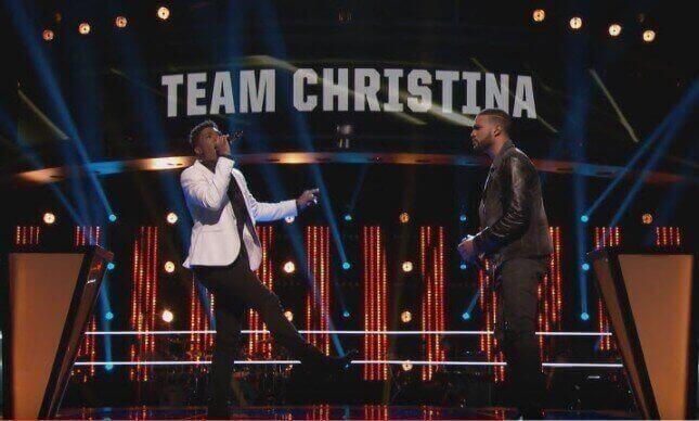 Bryan Baustista and Malik Heard on The Voice Battle Rounds, Season 10