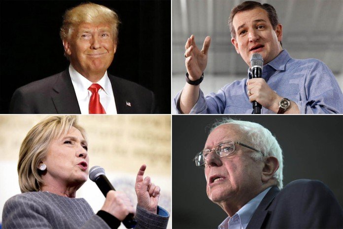 Election 2016: Donald Trump, Hillary Clinton, Ted Cruz, Bernie Sanders