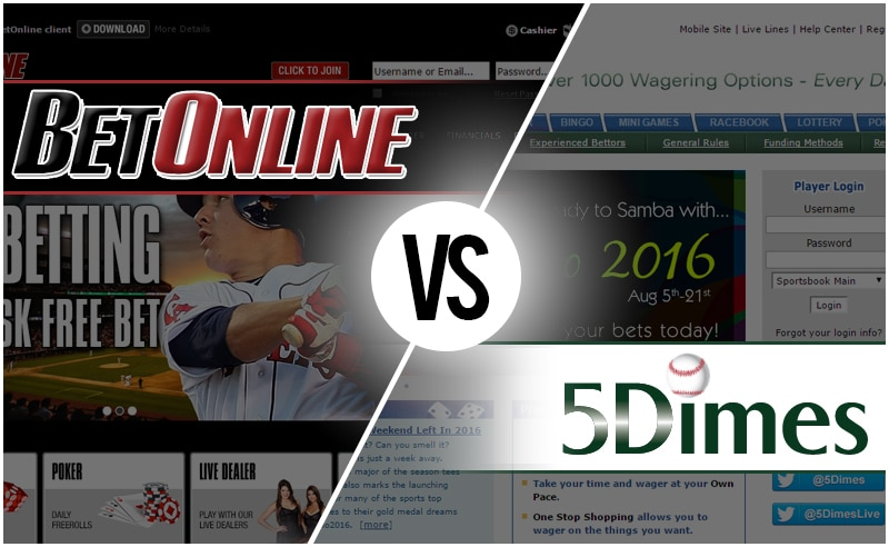 Sportsbook Review: BetOnline vs 5Dimes | BigOnSports