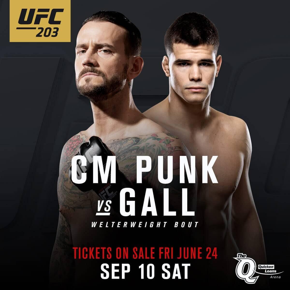 UFC 203 Odds Punk vs Gall