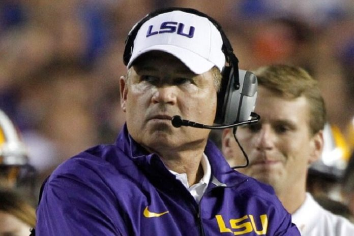 Les Miles LSU Coach Football Betting Odds