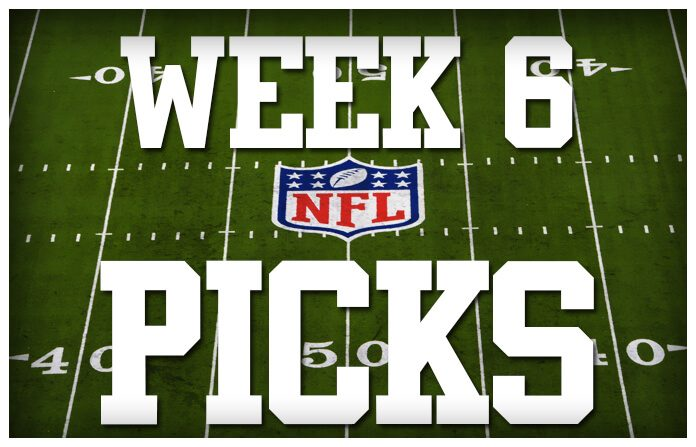 nfl money lines week 6