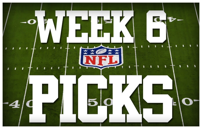 ufc picks nfl odds week 6 2016