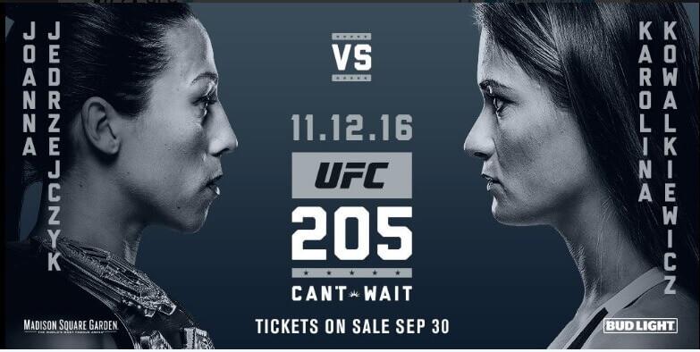 Joanna Jedrzejczyk vs Karolina Kowalkiewicz UFC 205 Odds