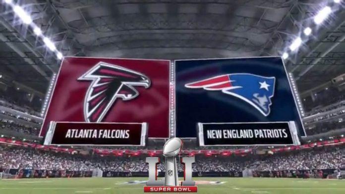 Atlanta Falcons vs New England Patriots Super Bowl 51