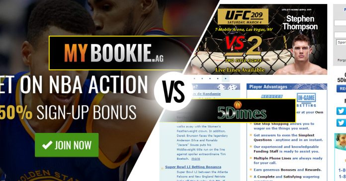 Sportsbook Review: 5Dimes vs MyBookie | BigOnSports