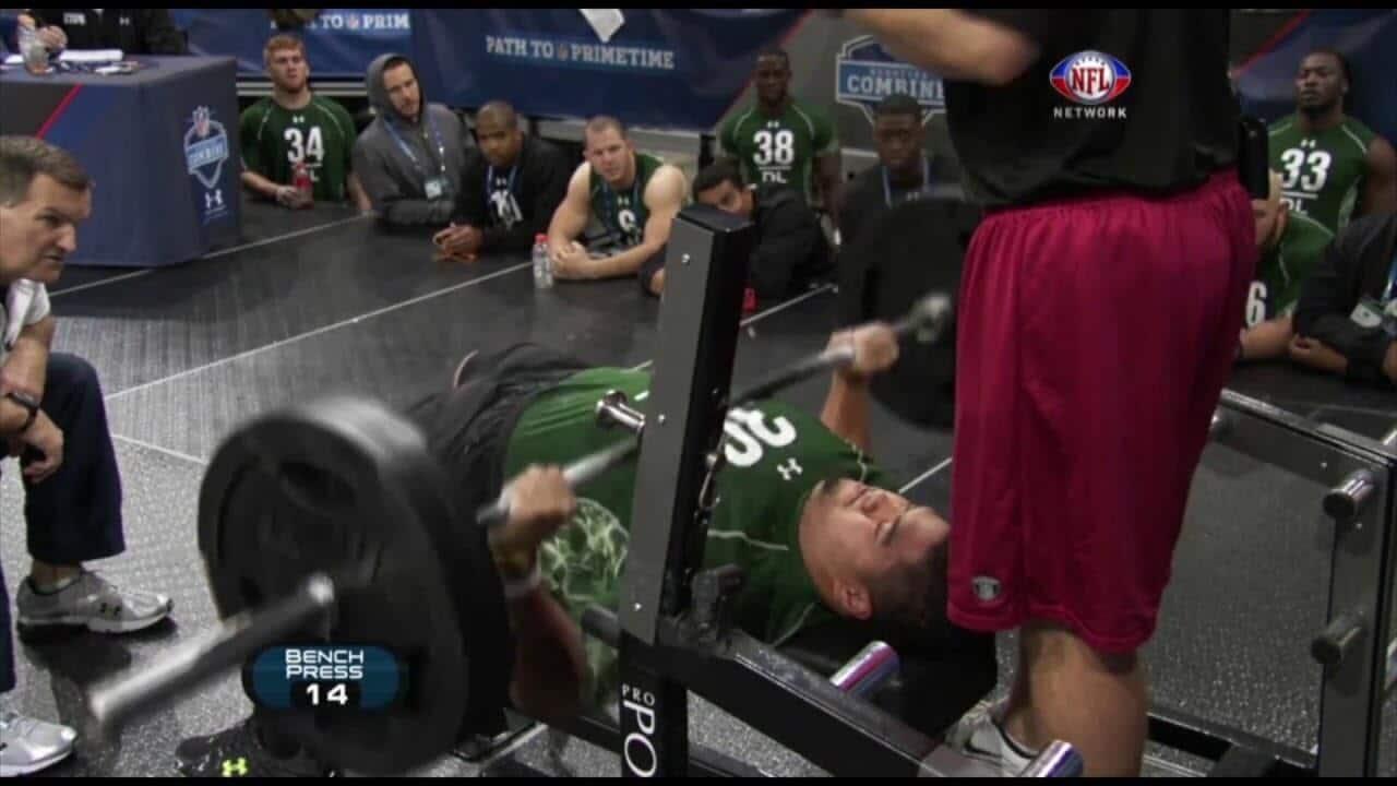 bench press odds combine paea