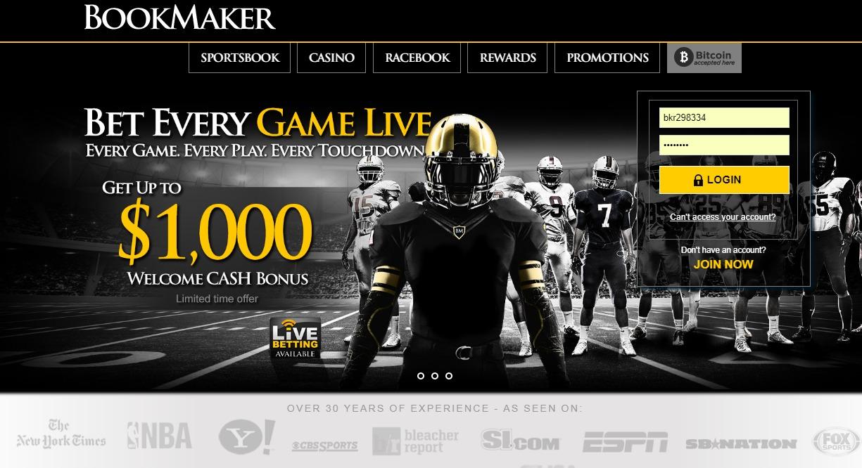 Bookmaker sportsbook betting 100nl bovada betting
